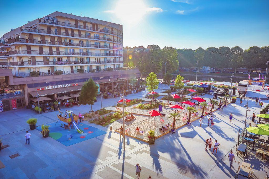Les Rives de l'Orne Esplanade Apsys Caen centre commercial